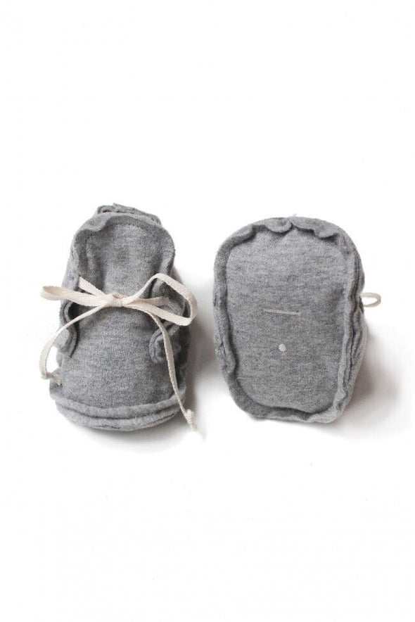 Raw Edged Booties- Sage