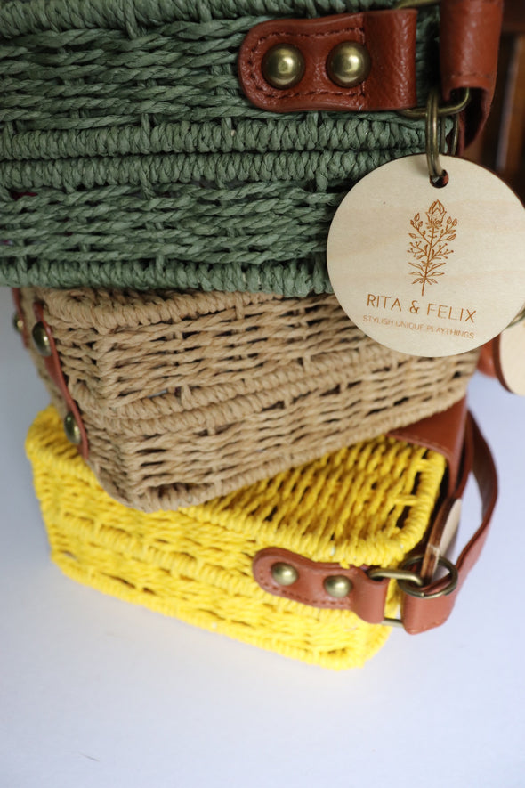 Woven Hip Bag Green