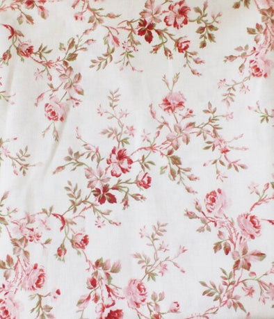 Pink Floral Handmade Fitted Sheet