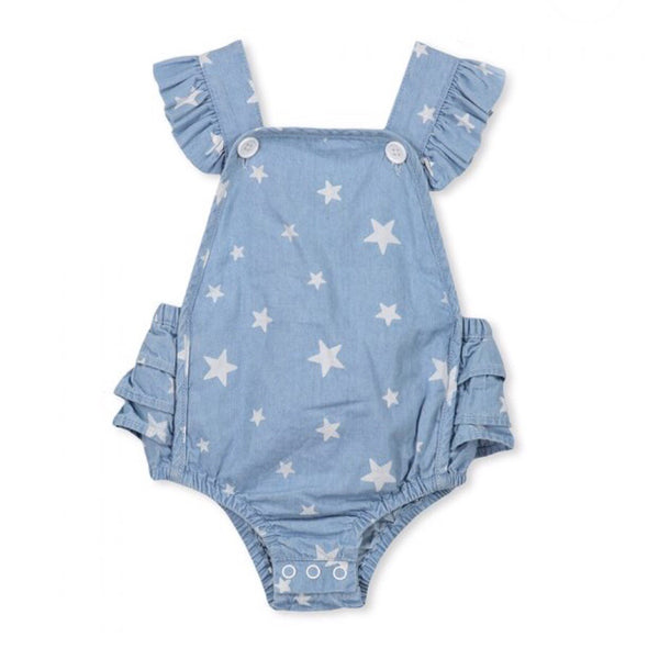Chambray Star Playsuit
