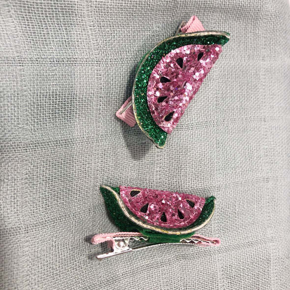 WATERMELON HAIR CLIPS