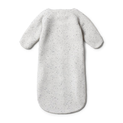 Speckle Knitted Cocoon Sleeper -Grey