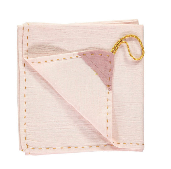 Single Swaddle/ Blanket Pearl Pink
