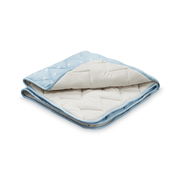 Horse Dusty Blue Coverlet