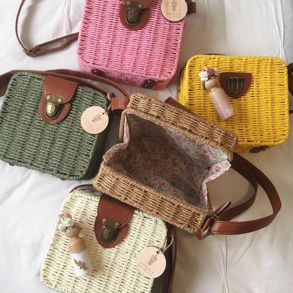 Woven Hip Bag Yellow