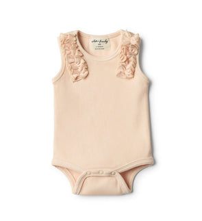 Peach Dust Bodysuit with Ruffle