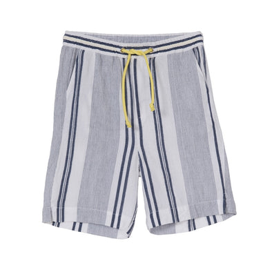 Luca Casual Shorts Blue + White Stripe