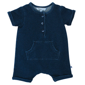 Dante Stretch Denim Romper