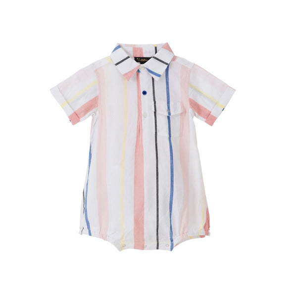 Ethan Shirt Onesie - Cotton Candy