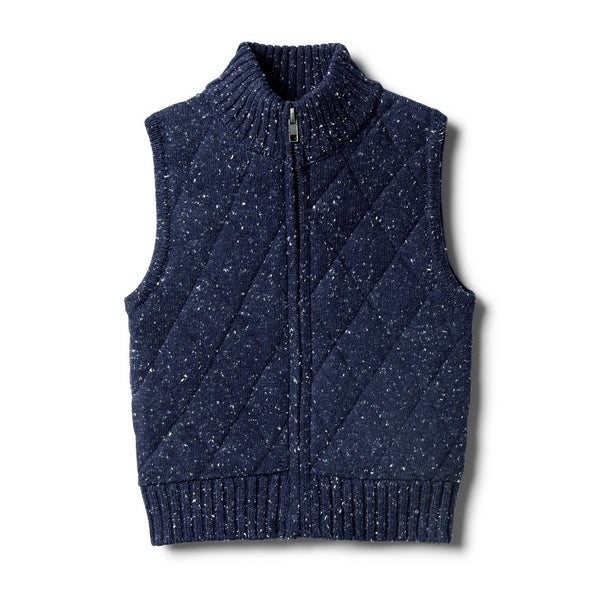 Twilight Blue Knitted Vest