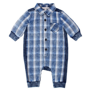 Polar Check Romper