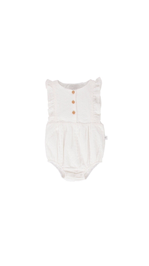 August Playsuit White Broidere