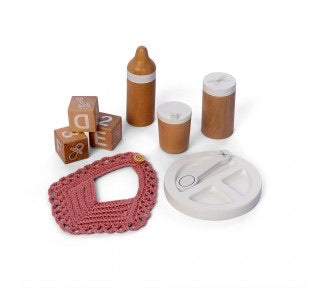 Wooden Role Play Doll Feeding Set 9pc | Pre Sale* 1st NOV Avail