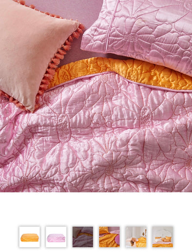 Magical Kingdom Satin Quilted Pillow Cases -Strawberry Mouse