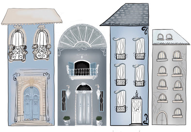 Parisian Strip Decals Set Sml