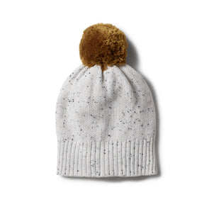 Speckle Knitted Hat -Grey
