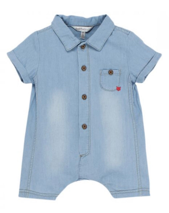 Little Mr Denim Romper