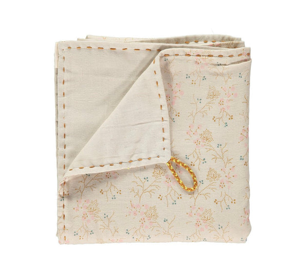 Minako Floral Double Swaddle/ Blanket Golden & Stone