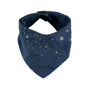 LUCKY BANDANA -Gold Stella Night Blue