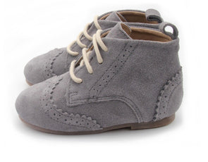 Cambridge Brogue Boot Charcoal Suede