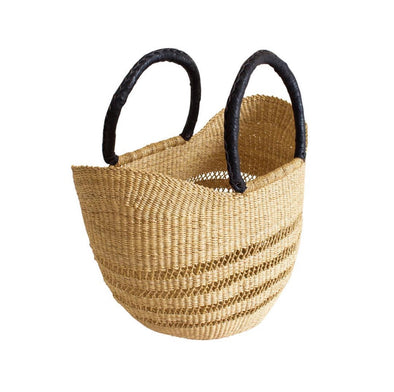 Market Basket Bag- Black Handles