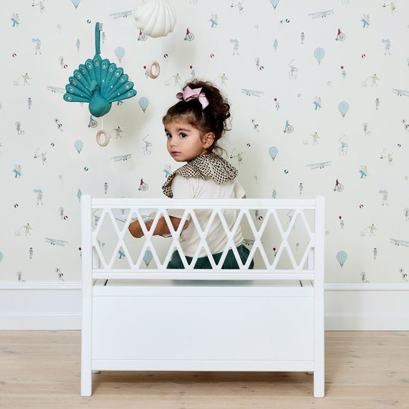 Kids Storage Bench White (Pre-Order Only)