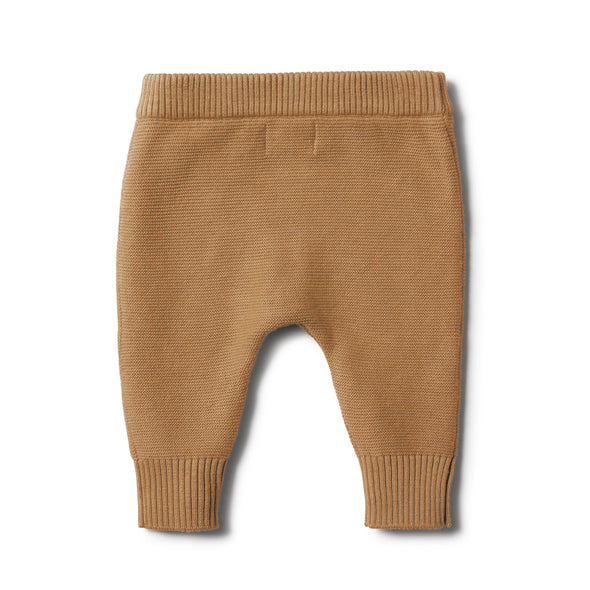 Cable Knit Legging -Caramel