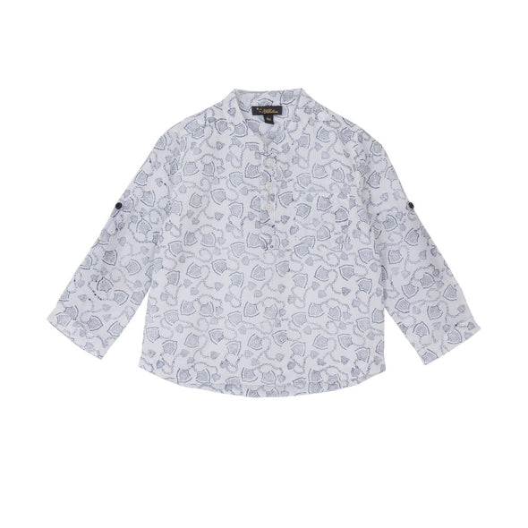 Nitin Top Euro Navy + White Print