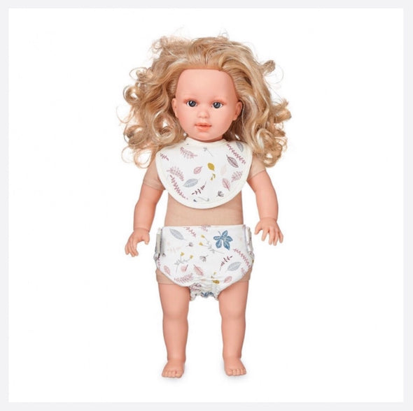 Dolls Bib & Diaper Set- Pressed Leaves Ross
