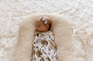 Goldie Blooms Bamboo Jersey Swaddle