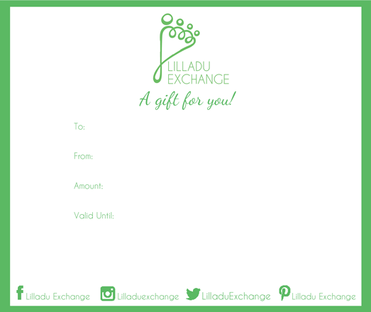 Lilladu Exchange Gift Card