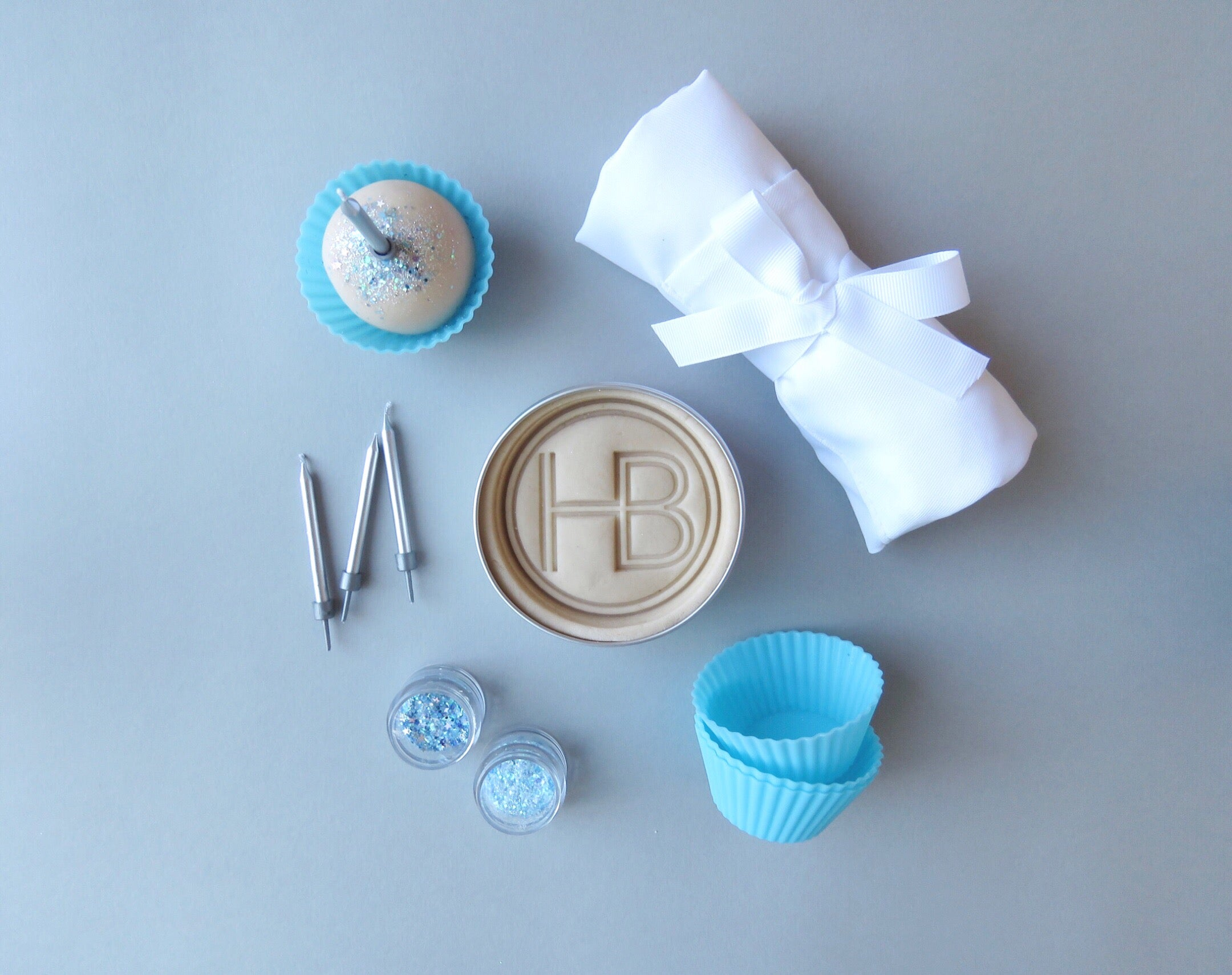 Blue 'Cupcake Making' Box