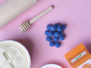 Pretend Blueberry Pancake Making Box