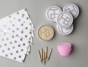 Pink 'Cupcake Making' Party Bag