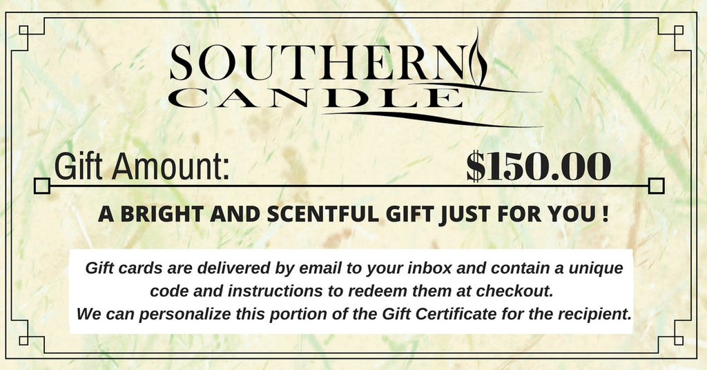 Southern Candle Gift Certificates - Southern Candle