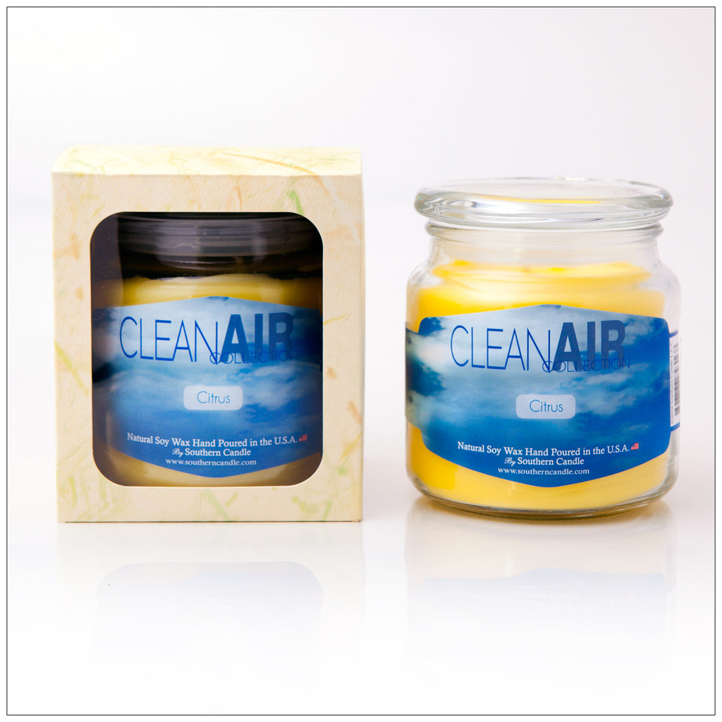Clean Air Citrus - 16oz Decorator Jar - Southern Candle