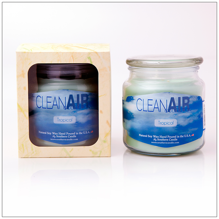 Clean Air Tropical - 16oz Decorator Jar Scented Candle - Southern Candle
