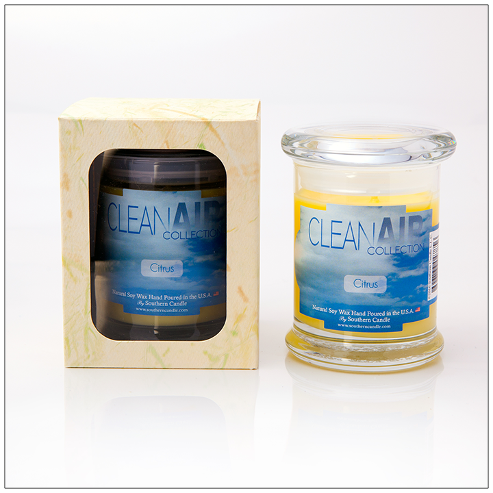 Clean Air Citrus - 8oz Classic Jar Scented Candle - Southern Candle