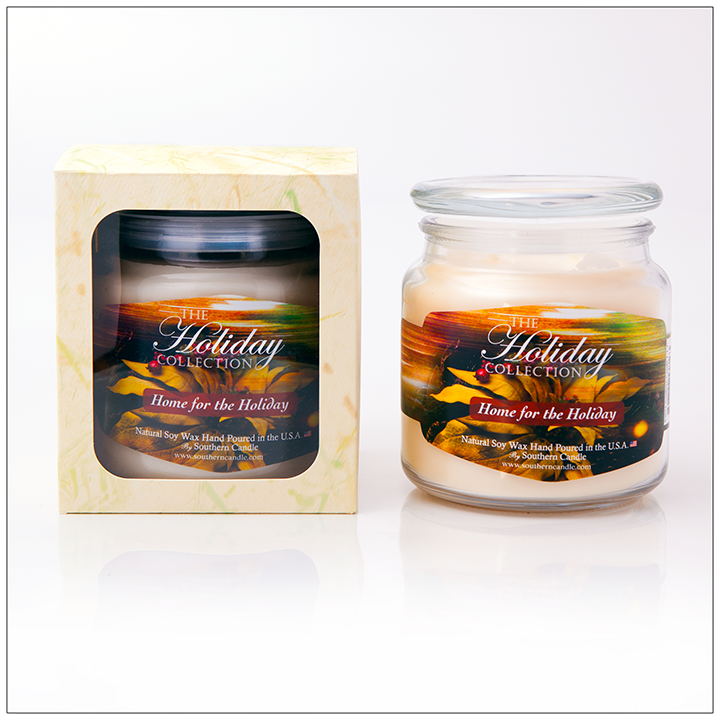 Home For the Holidays - 16oz Decorator Jar Scented Candle - Southern Candle