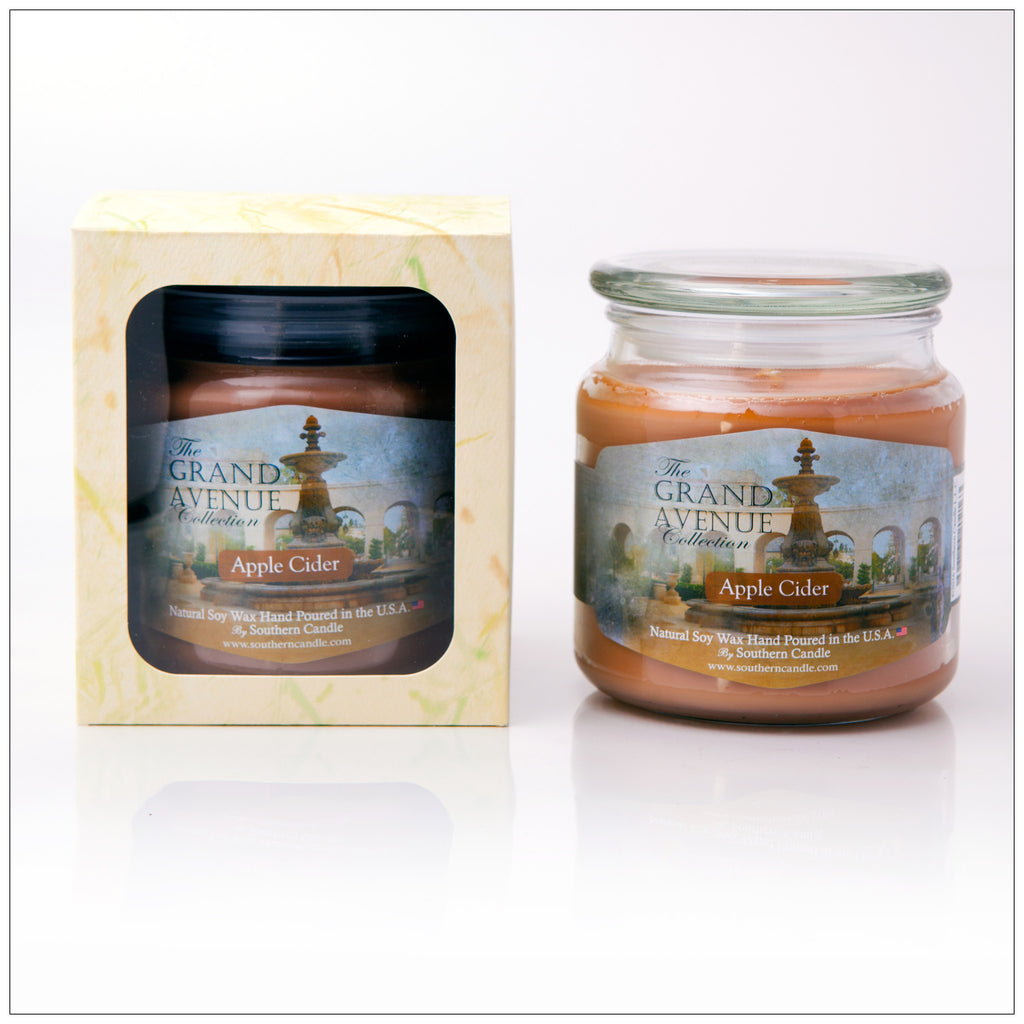 Apple Cider - 16oz Decorator Jar Natural Soy Wax Scented Candle - Southern Candle
