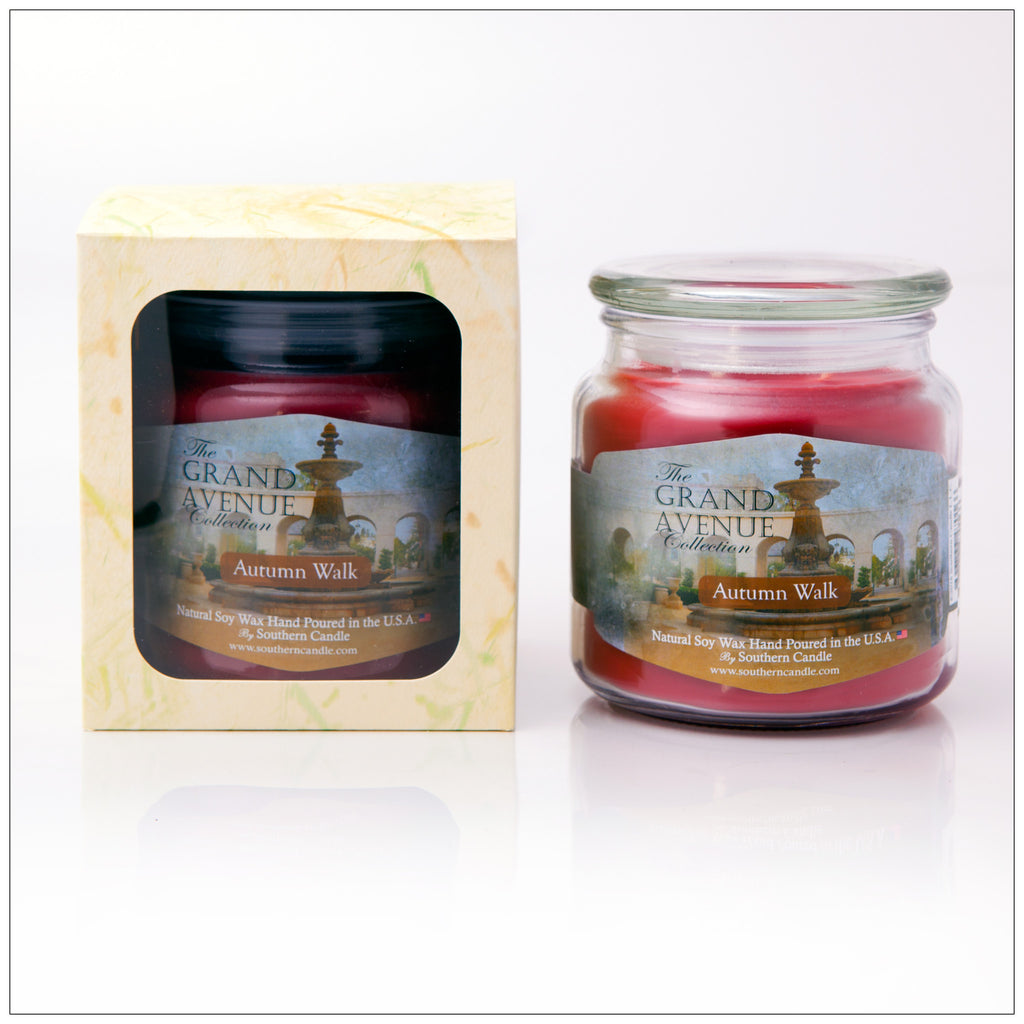 Autumn Walk - 16oz Decorator Jar Scented Candle - Southern Candle