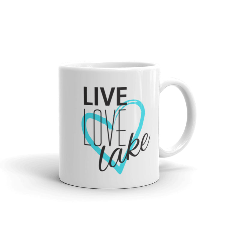 {Live, Love, Lake} • 11oz Ceramic Mug • White