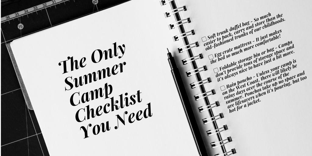 The Only Summer Camp Checklist You Need