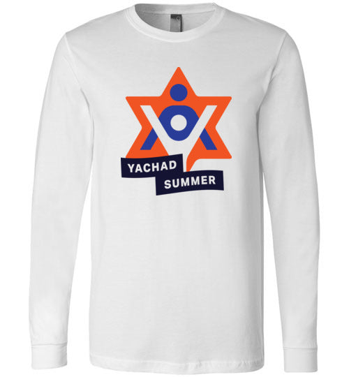 Yachad Summer Bella Canvas Long Sleeve White T-Shirt