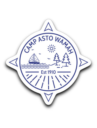 Asto Wamah Compass Sticker Decal