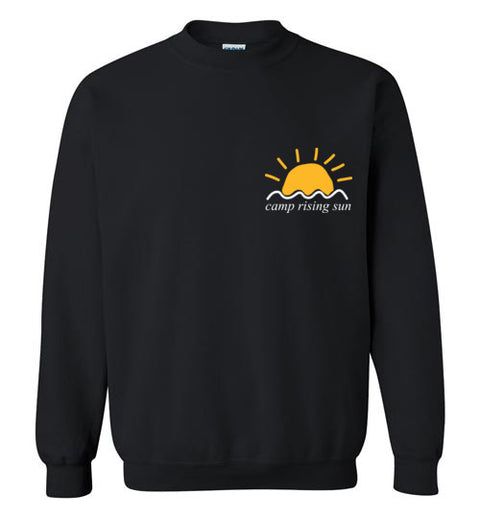 Camp Rising Sun White Logo Crewneck Sweatshirt