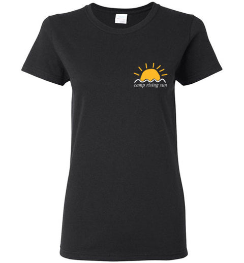 Camp Rising Sun White Logo Women's Short-Sleeve T-Shirt