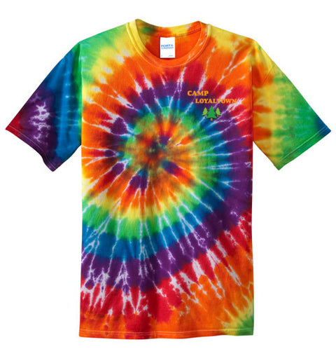 Leo Tie-Dye T-Shirt - White Face
