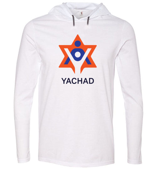 Yachad Long Sleeve Hooded White T-Shirt