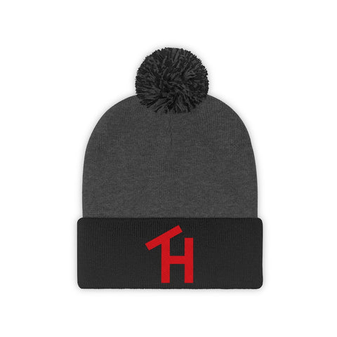 TH Red Pom Pom Beanie